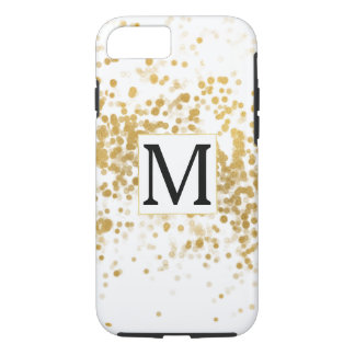 Gold Confetti Glam Monogram iPhone 8/7 Case