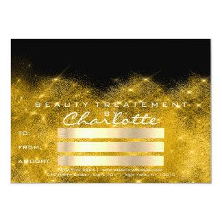 Gold Confetti Glitter Beaty Salon Certificate Gift Card