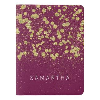 Gold Confetti Glitter Extra Large Moleskine Notebook