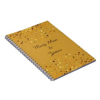 Gold Confetti Glitter Faux Foil craft Notebook