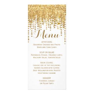 Gold Confetti Glitter Look Rack Card