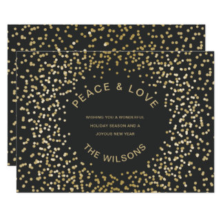 Gold Confetti Holiday Greeting Card