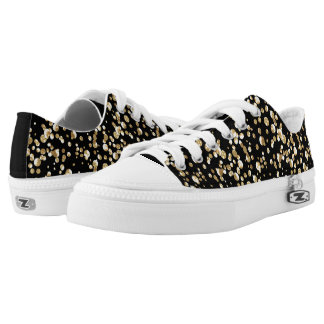 Gold confetti . low tops