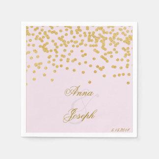Gold confetti Napkins pink II Disposable Napkin