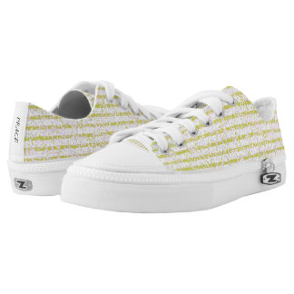 Gold Confetti Pinstrip Pattern Canvas Shoes