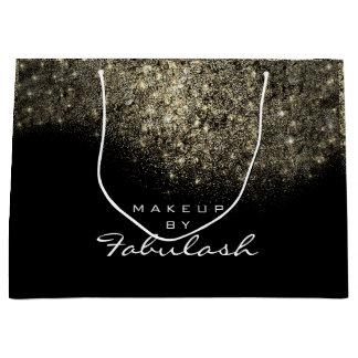 Gold Confetti Sparkly Glitter Black White Brand Large Gift Bag