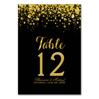 Gold Confetti | Table Card
