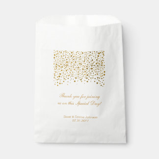 Gold Confetti Wedding  | Personalise Favour Bag