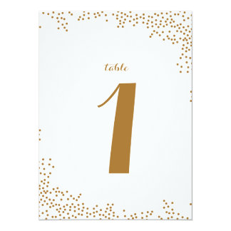 Gold Confetti Wedding Table Numbers