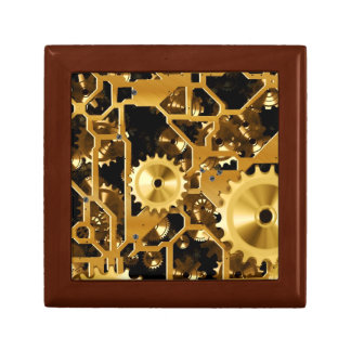 Gold Copper and Brown Cogs, Gears Gift Box