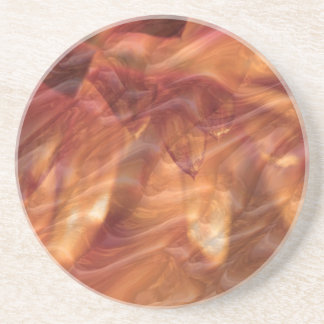 Gold Copper Diamond Rose Flower Coaster