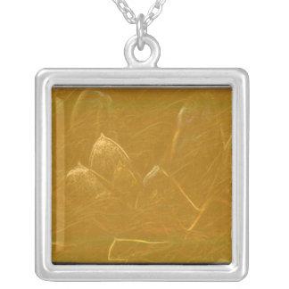 Gold Copper Embossed Waves Lotus Leaf Pendants