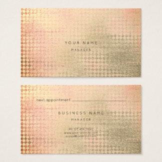 Gold Coral Peach Diamond Cut Appointment Card
