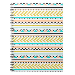 d8f855d37a Black And White Aztec Patterns Notebooks