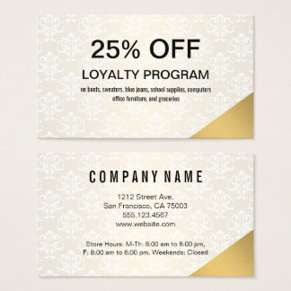 Gold Corner Discount Business Card