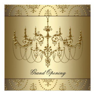Gold Corporate Business Grand Opening Party Invite