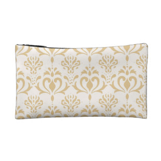 Gold Cosmetic Bag Decorative Flower