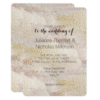 Gold Cream Burgundy Chic Abstract Wedding Card