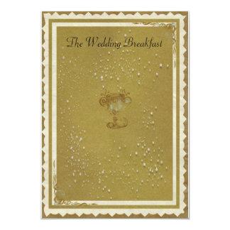 Gold & Cream The Wedding Breakfast Card