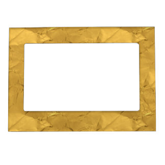 Gold Crinkle Magnetic Picture Frame