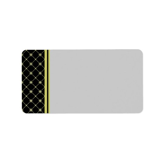 Gold Crosses Pattern Label Template