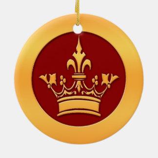 Gold Crown Ceramic Ornament