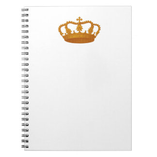 GOLD Crown Gift Item Template You Personalize Notebook