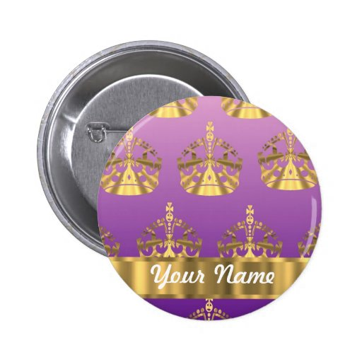 Gold crown pattern pin