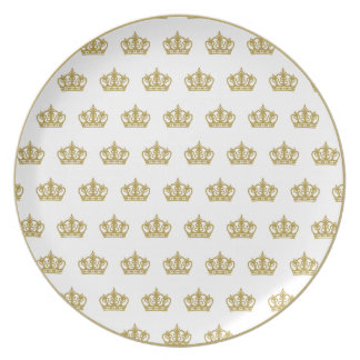Gold Crown Pattern Plate