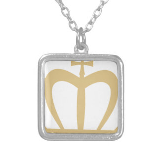 Gold Crown Silver Plated Necklace