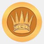 Gold Crown Sticker
