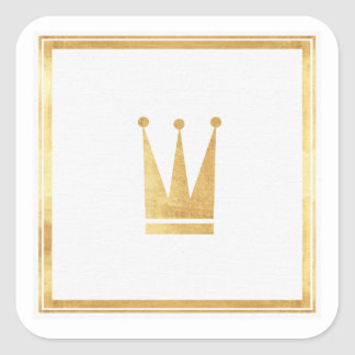 Gold Crown Sticker Seal