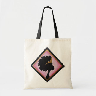 Gold crowned silhouette tote bag