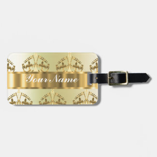 Gold crowns tag for luggage