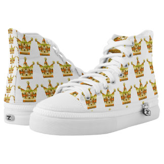 Gold Crowns of Tink Fairytale Art by Deprise Printed Shoes