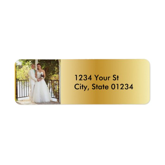 Gold Custom Photo Return Address Labels