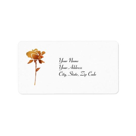 Gold cut Rose address lables Label