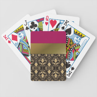 Gold damask and Red Poker Deck
