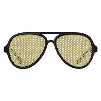 Gold Damask Aviator Sunglasses