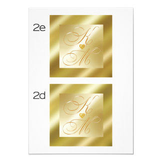 gold damask bar MONOGRAM CARD