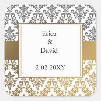 gold damask envelopes seals