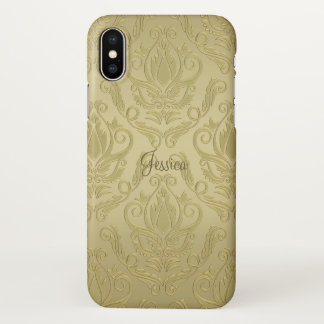 Gold Damask iPhone X Case