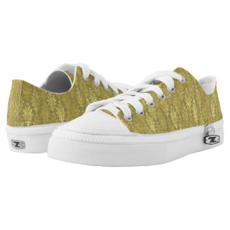 Gold Damask Low Tops