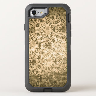 Gold Damask OtterBox Defender iPhone 7 Case