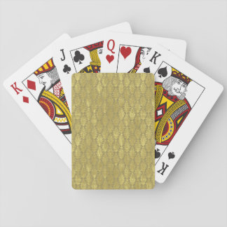 Gold Damask Playing Cards