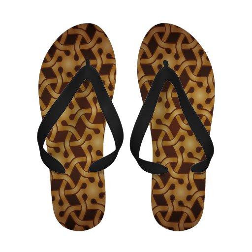Gold Damask Sandals