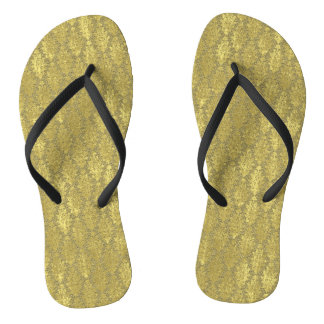 Gold Damask Thongs