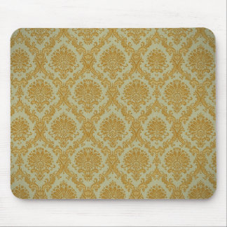 Gold Damask Wallpaper Mousepad