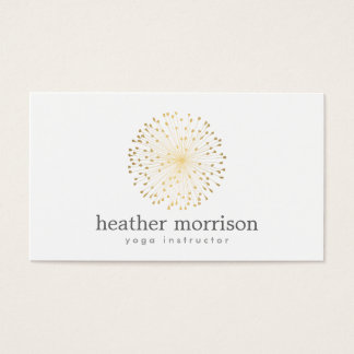 GOLD DANDELION STARBURST LOGO on WHITE