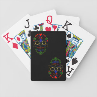 Gold Day of the Dead Poker Skull Cards